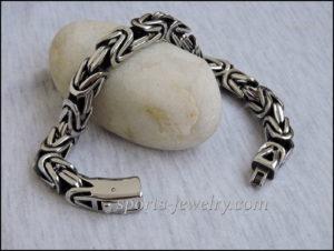 Byzantine bracelet stainless steel