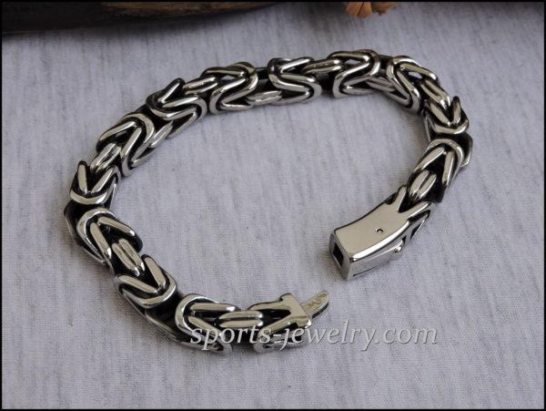 Byzantine bracelet stainless steel 03