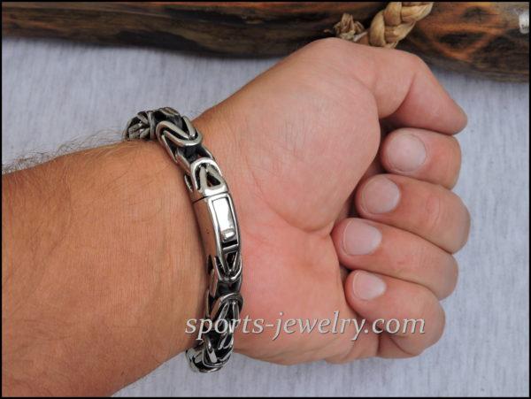 Byzantine bracelet stainless steel 04