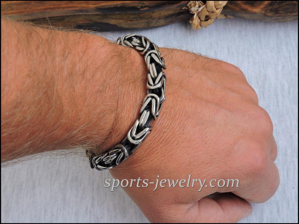 Byzantine bracelet stainless steel 05