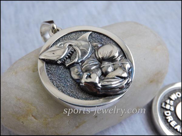 Shark necklace pendant