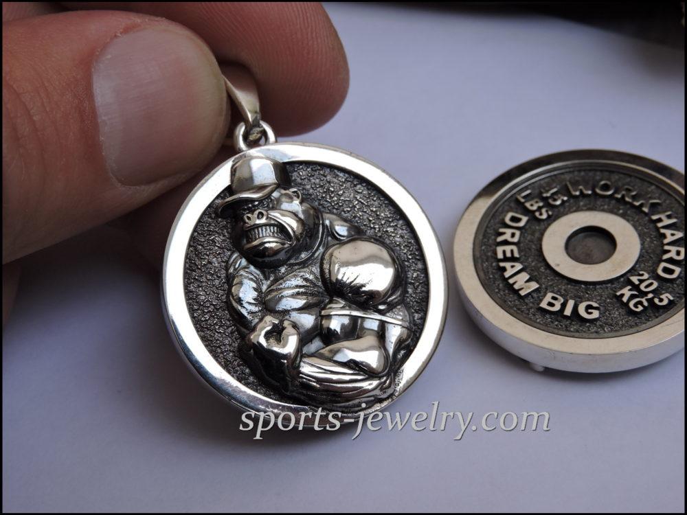 WORK HARD DREAM BIG Gorilla necklace