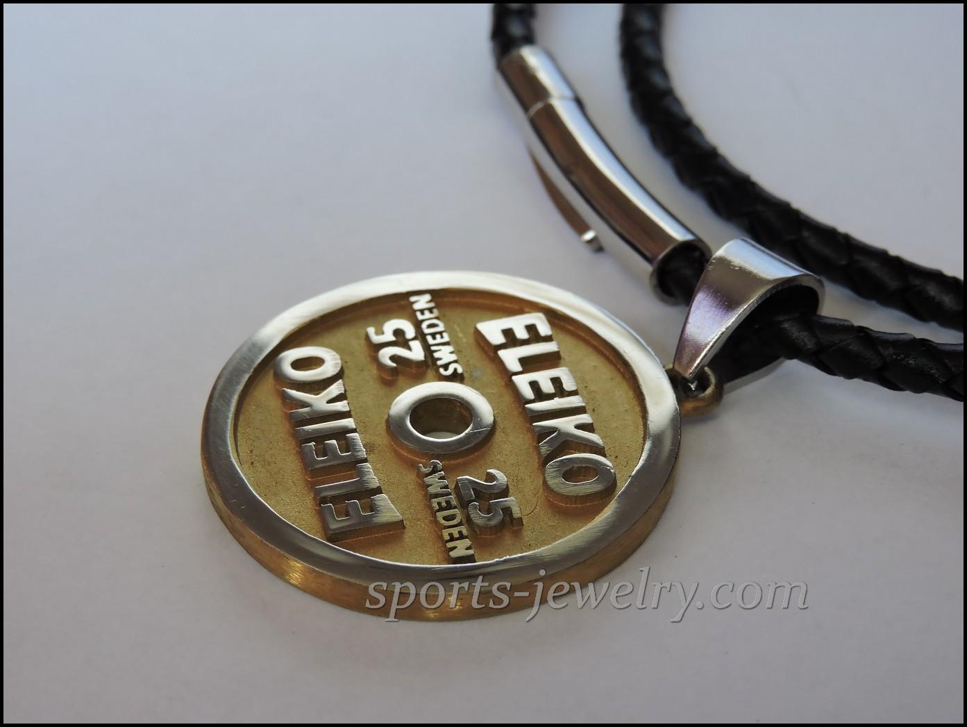 Weight plate pendant eleiko sports jewelry weight plate pendant eleiko aloadofball Image collections