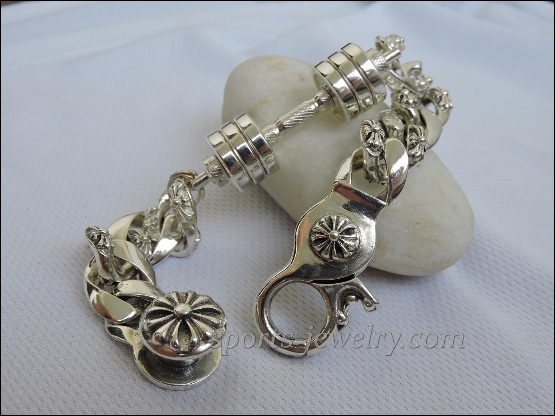 Bracelet barbell silver Gym jewelry