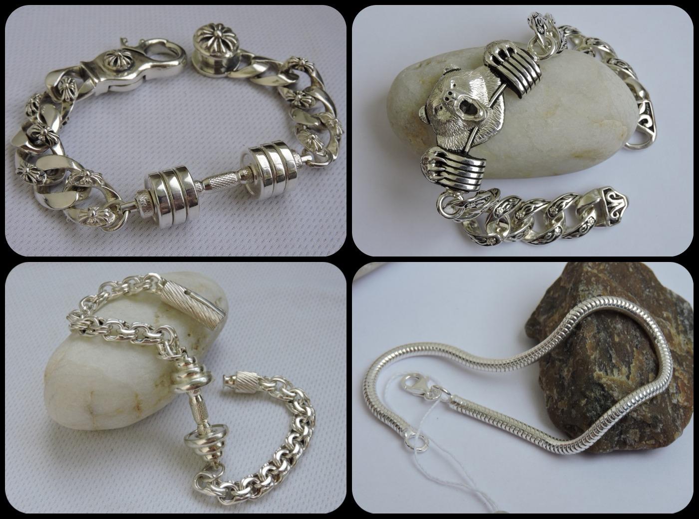 Sports jewelry Bracelets silver
